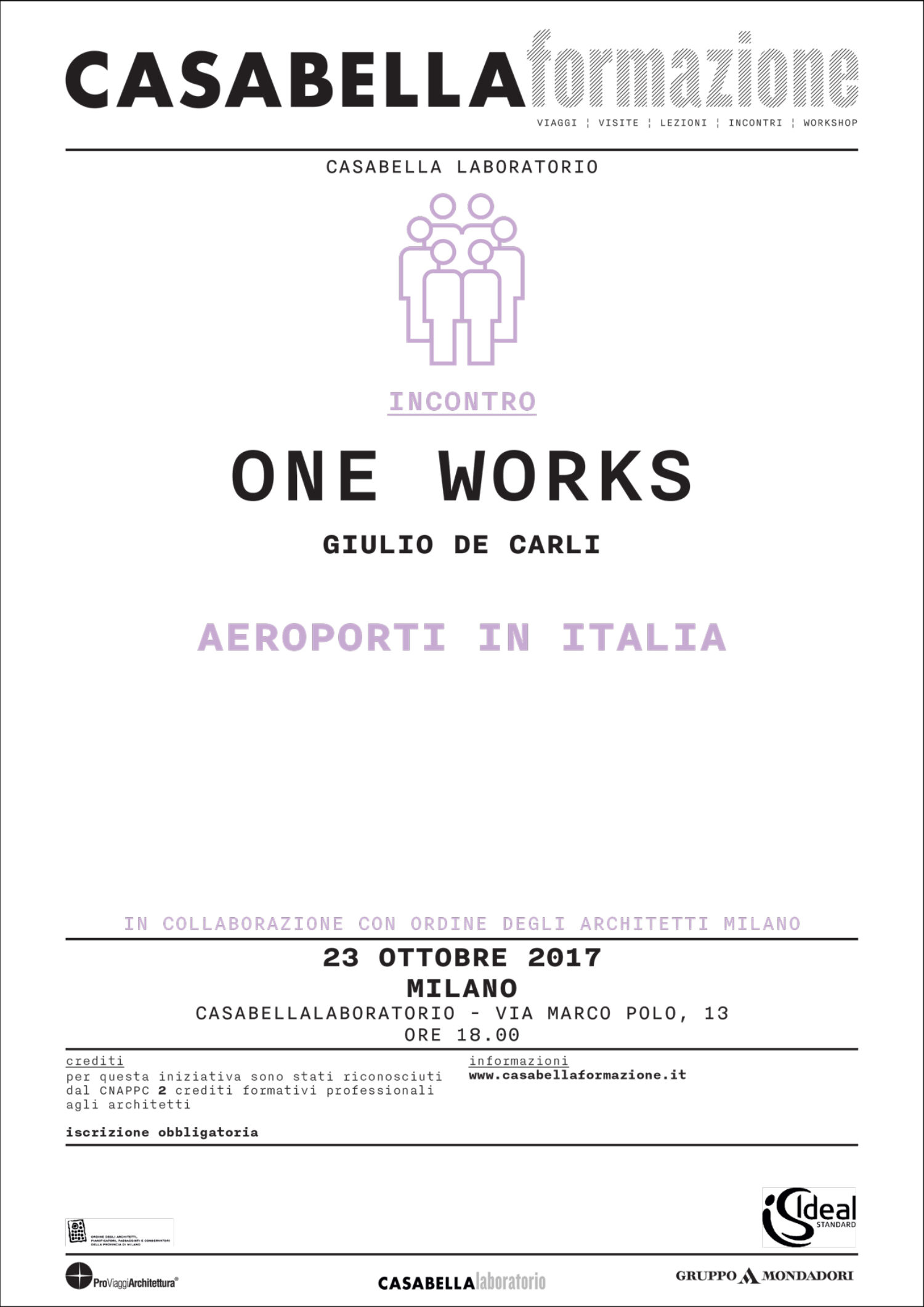 Giulio De Carli talks Italian Airports at CASABELLA Formazione