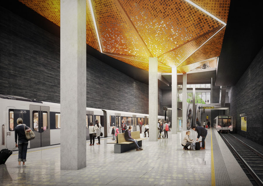 Competition proposals revealed for Fornebu Centre Station, Oslo