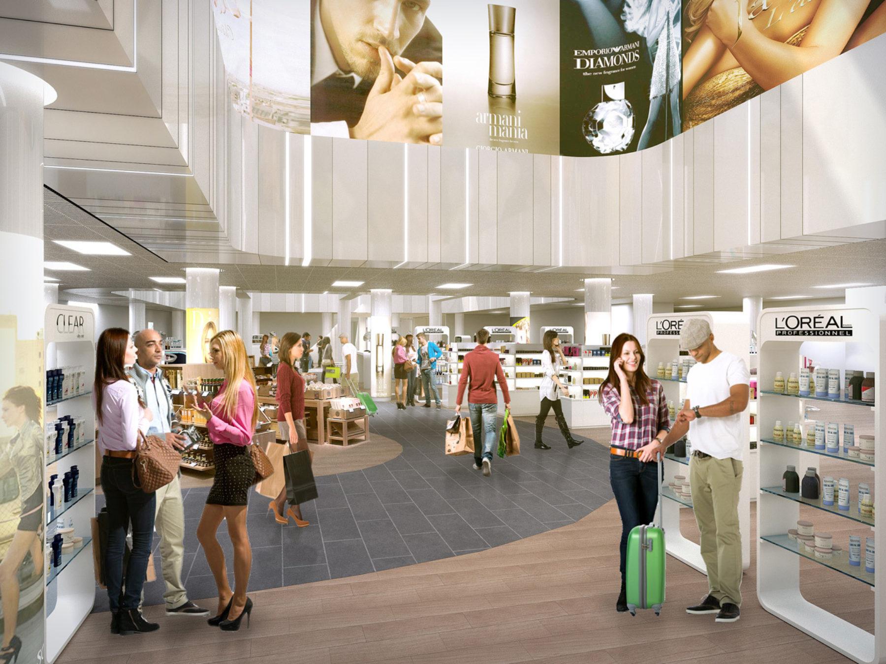 Malpensa International Airport (MXP) T2: Retail Area Restyling